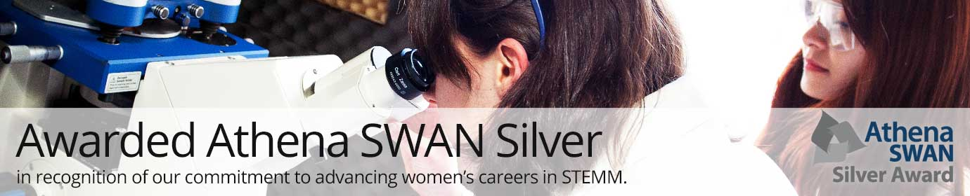 School of Chemistry awarded Athena SWAN silver award.