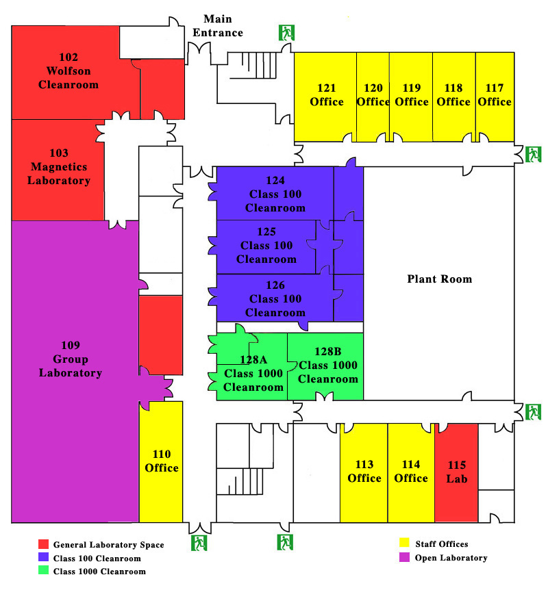 Floor Plan of IT Building Level 1