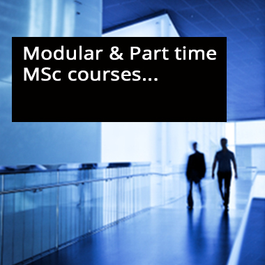 Modular & Part time MSc courses