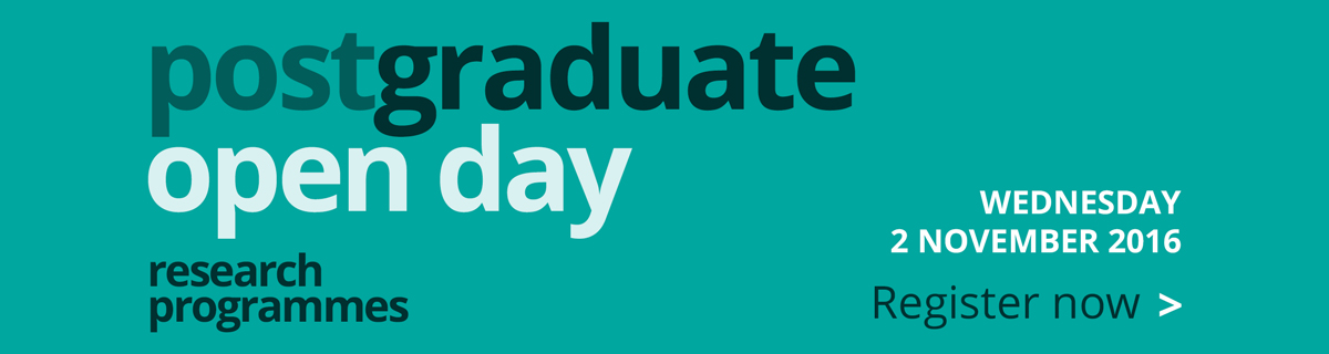 Postgraduate research open days