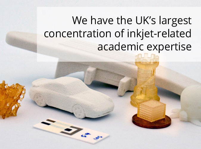 We have the UK's largest concentration of ink-jet related academic expertise.