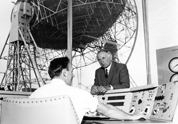 Sir Bernard Lovell, founder of Jodrell Bank Observatory.