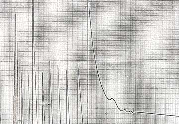 A chart recording of signals from Apollo 11's Eagle Lander which were picked up at Jodrell Bank.