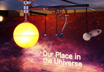 The clockwork orrery in the Planet Pavilion.