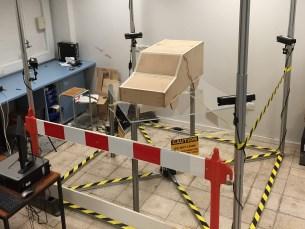 Scanning laboratory prototype for computerised fluid dynamics analysis