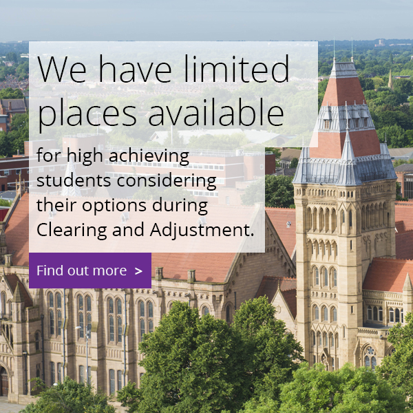 We have limited places available for high achieving students considering their options during Clearing and Adjsutment.