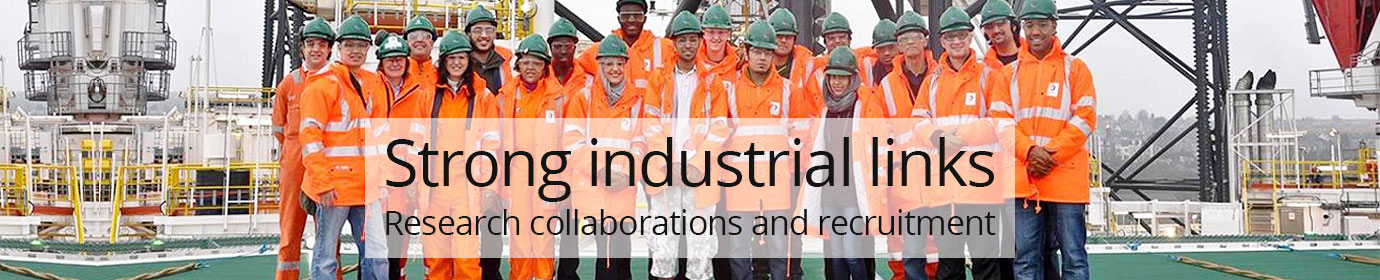 Strong Industrial Links.  Research collaborations and recruitment.