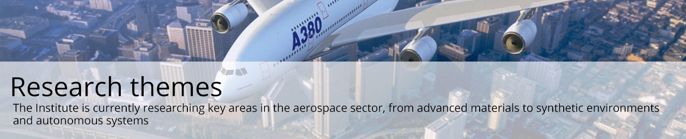 The Institute is currently researching key areas in the aerospace sector, from advanced materials to synthetic environments and autonomous systems